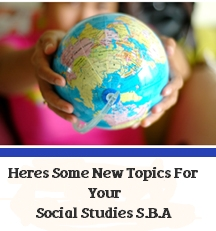 List Of Topics For Social Studies SBA
